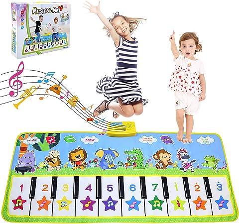 LEADSTAR Juguetes Niños 2 Años, Grande Alfombra Infantil, Touch Alfombra Musical Teclado, Alfombra de Juegos, Alfombra de Piano Actividad Juego De ...