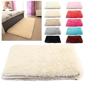 New Decor 120x80cm Fluffy Anti Skid Shaggy Area Rug Yoga Carpet Home Bedroom Floor Dining