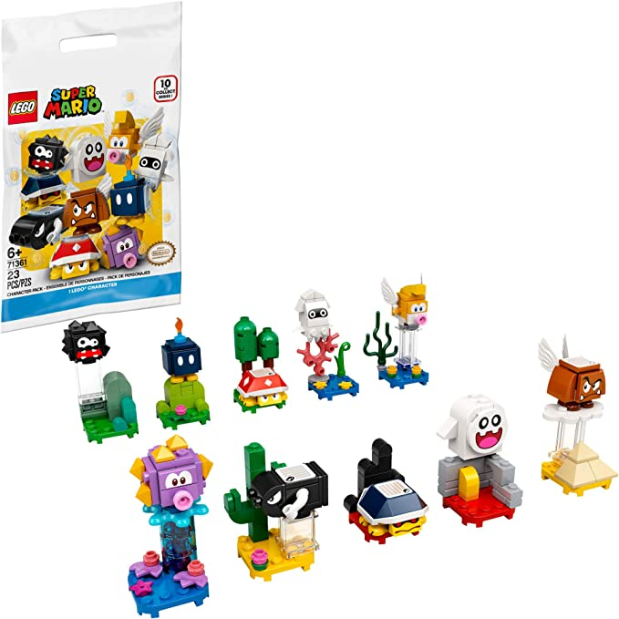 Amazon.com: LEGO Super Mario Character Packs 71361; Collectible Toy, 1 Unit (Style Picked at Random) to Combine with The Adventures with Mario Starter Course (71360) Playset, New 2020: Toys & GamesLive viewers eye icon