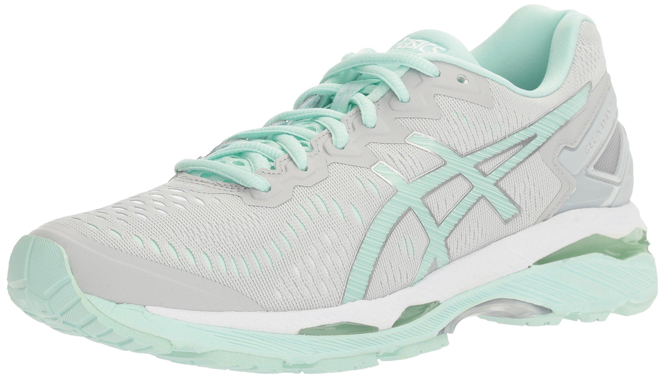 ASICS Women's Gel-Kayano 23 Running Shoe, Glacier Gray/Bay/White, 8.5 M US
