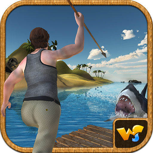 (Raft Survival Island Underwater Shark Attack)