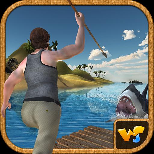 Raft Survival Island Underwater Shark Attack