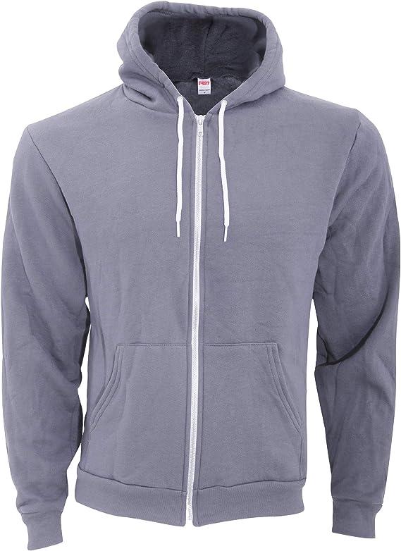 American Apparel Mens Flex Fleece Long-sleeve Zip Hoodie
