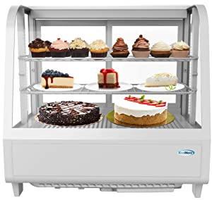 KoolMore Commercial Countertop Refrigerator Display Case Merchandiser with LED Lighting - 3.6 cu. ft