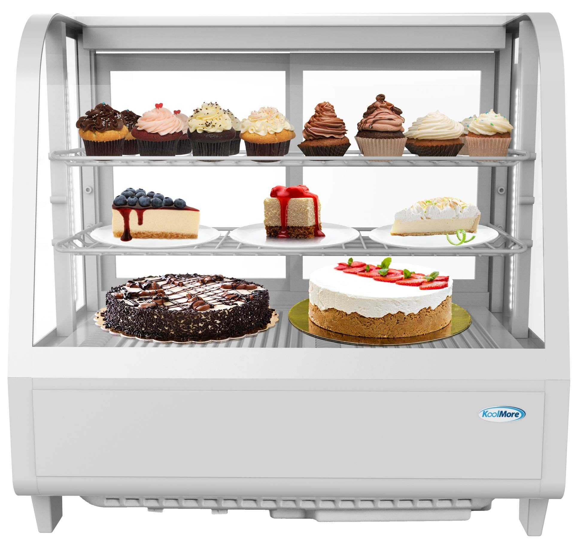 KoolMore Commercial Countertop Refrigerator Display Case Merchandiser with LED Lighting - 3.6 cu. ft by KoolMore (Image #1)