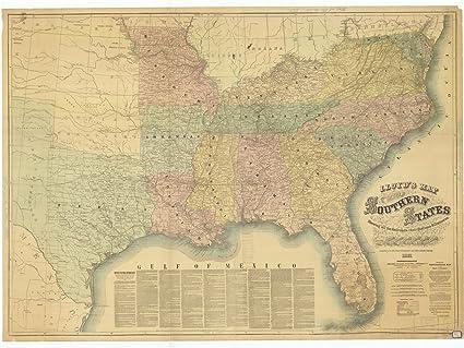 Amazon.com: 8 x 12 inch 1861 US Old Nautical map Drawing Chart ...