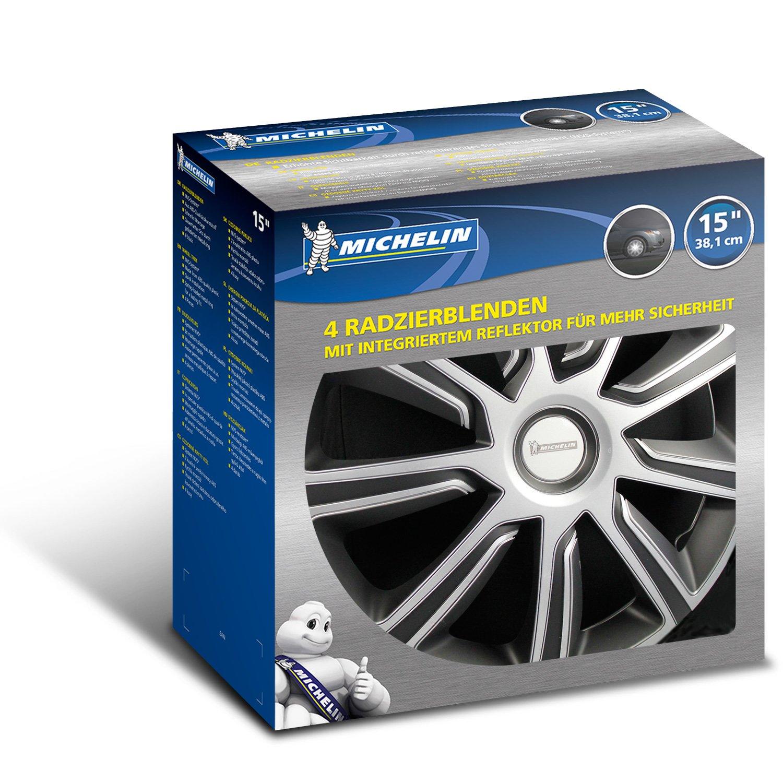 argento//nero 15 38.10 cm set da 4 Michelin 92014 Copricerchi Louise con sistema riflettente N.V.S.