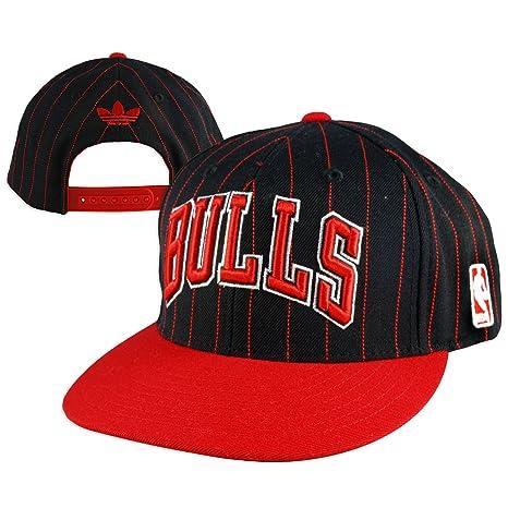 Amazon.com   Adidas Chicago Bulls Pinstripe Snapback Hat   Sports ... 631b0dd4635