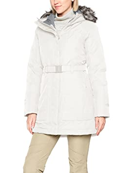 The North Face W Brooklyn Parka 2 Chaqueta-Mujer, Blanco (Vintage White)