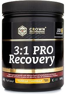 Crown Sport Nutrition 3:1 PRO Recovery, Suplemento recuperador muscular para deportistas, Con