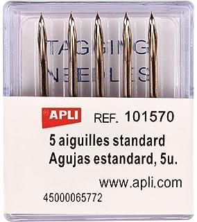 APLI 100911 - Pack de 6 rollos para etiquetadora, color blanco: Amazon.es: Oficina y papelería
