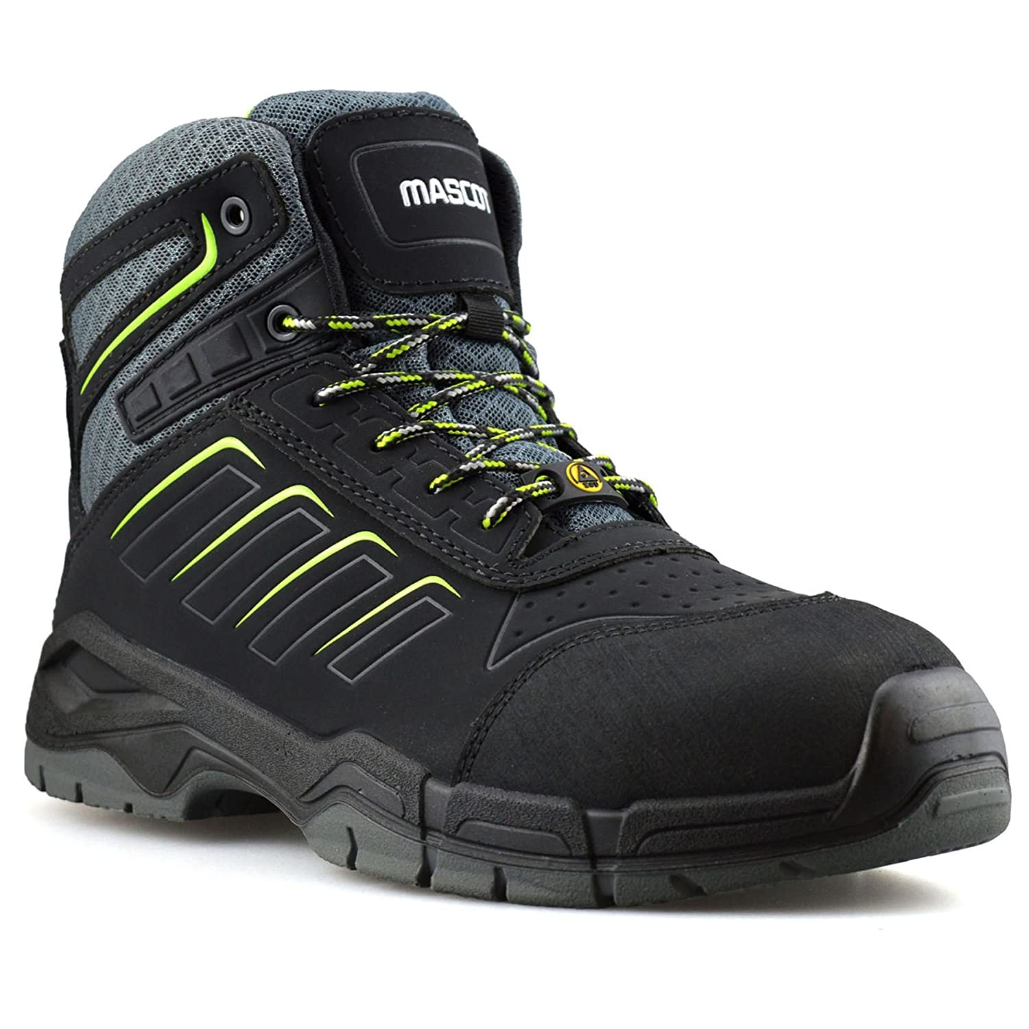 33e5e3849de Mascot Mens Leather Waterproof Safety Steel Toe Cap Work Ankle Hiker Boots  Shoes  Amazon.co.uk  Shoes   Bags