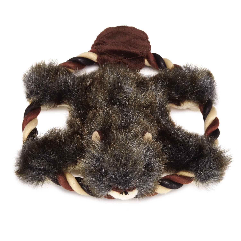 Grriggles Plush Fuzzy Flyers Dog Toy, Beaver, 8-Inch