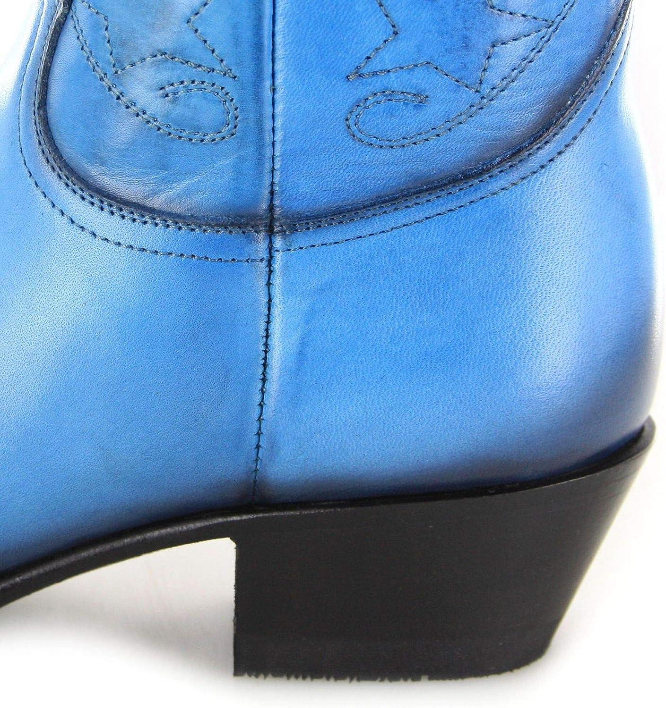 Mayura Boots 2374 Turquesa Damen Cowboy Stiefel Lederstiefelette Türkis