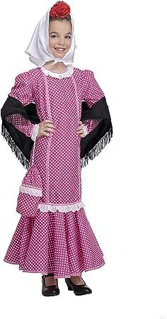 Disfraz de Madrileña Chulapa Rosa (3-4 años): Amazon.es: Juguetes ...