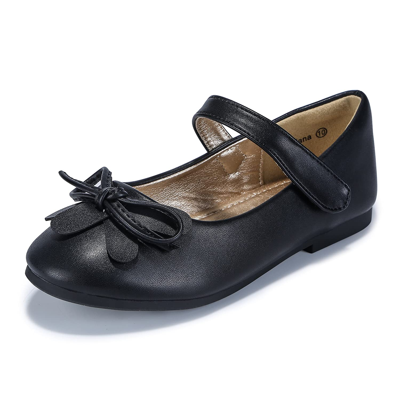 PANDANINJIA Toddler//Little Kids Ariana Uniform Black School Ballet Mary Jane Girls Flats Dress Shoes 9M US Toddler Black PU PN/_FARIANA-BLACKPU-9MUSTODDLER