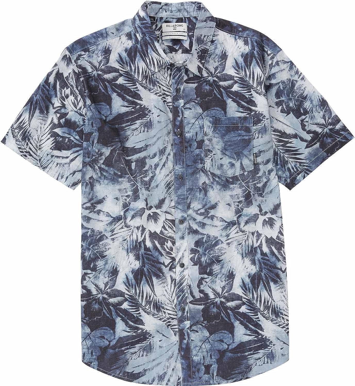 Billabong - camisa abotonada, Primavera-Verano, Hombre, color azul, tamaño Small: Amazon.es: Ropa y accesorios
