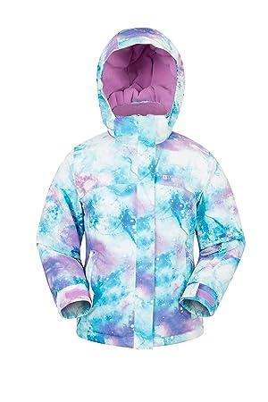 Mountain Warehouse Chaqueta de esquí Impresa para niños encantados - Cálido, Falda de Nieve, suéter Forrado con vellón de Invierno - para niños, niñas: ...
