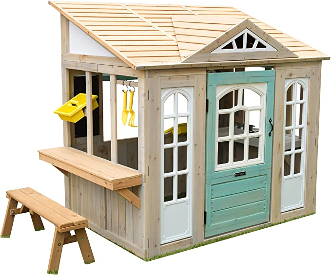 KidKraft- Casa de Juguete de Exteriores Jardines y Patios Meadowlane Market Play Kitchen, Color marrón (200): Amazon.es: Juguetes y juegos