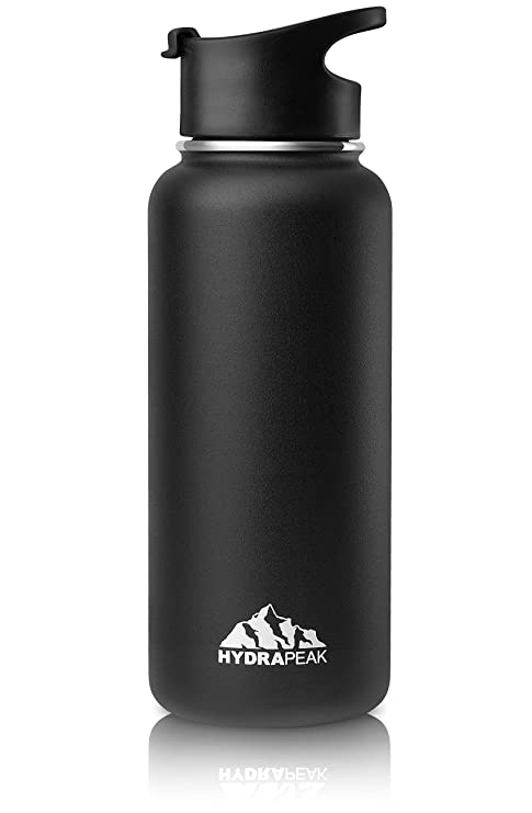 eb3af9a6a2 Hydrapeak Stainless Insulated Water Bottle-32oz BPA Free Wide Mouth, Double  Walled