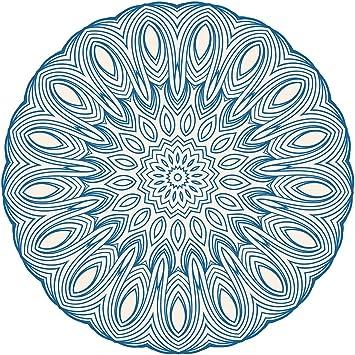 Pegatina de pared Salón Mandala motivo con patrón Mural para pegar India florituras ornamentación Marruecos bordadoras flores yoga es meditación: Amazon.es: Bricolaje y herramientas