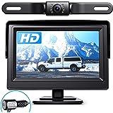 eRapta Backup Camera ERT01 with 4.3 inch Monitor License Plate Back Up Camera for Car Pickup Truck SUV Rear View Camera…