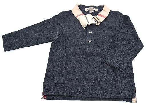 Burberry Camiseta Polo Gris Oscuro para NIÑA Art. B05L89 3 Anni ...