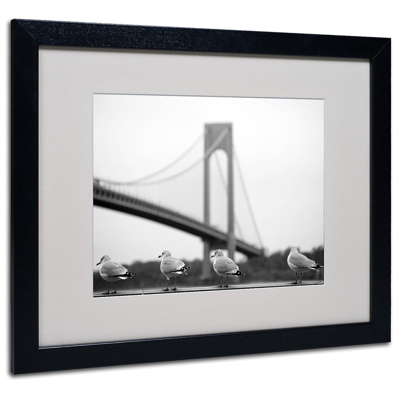 11 by 14-Inch Trademark Fine Art Verrazano by Yale Gurney Canvas Artwork in Black Frame