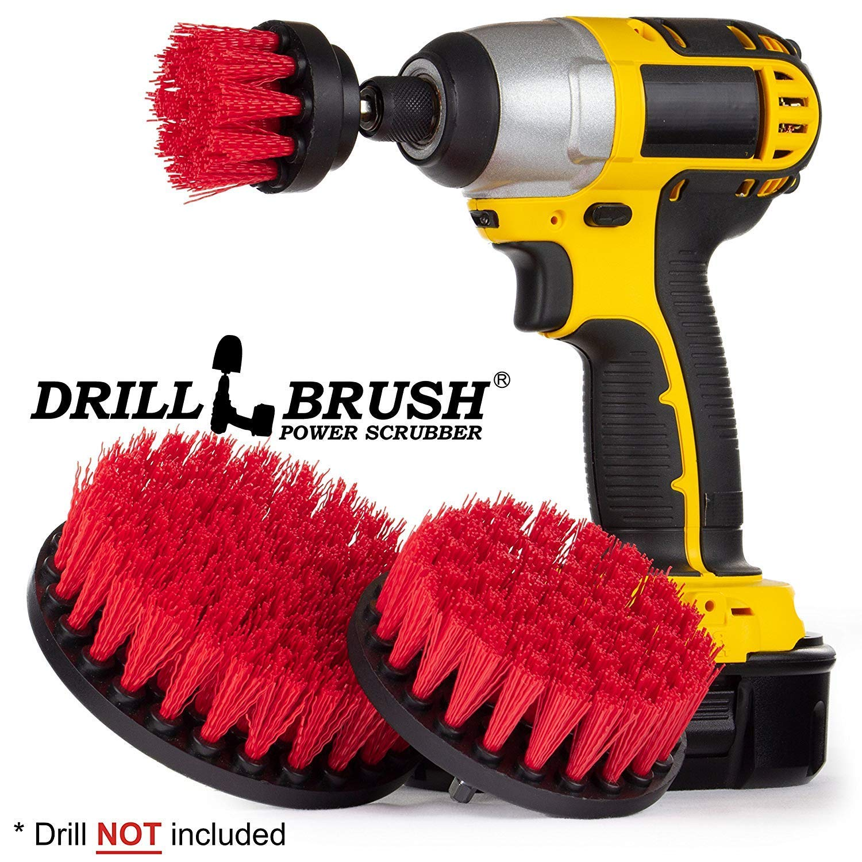 Cleaning Supplies - Drill Brush - Bathroom Accessories - Shower Curtain - Bath Mat - Scrub Brush - Bathtub - Sink - Toilet - Bidet - Flooring - Grout Cleaner - Spin Brush - Bathroom Cleaner Drillbrush Y-S-542-QC-DB