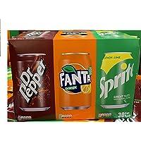 30 blikjes Variety Pack 10x330ml blikjes Dr. Pepper, 10x330ml blikjes Fanta, Sprite 10x330ml blikjes