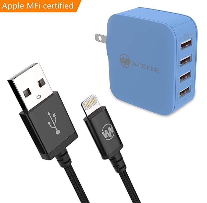 Blue iphone charger
