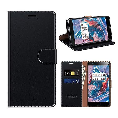 coodio OnePlus 3T Hülle Leder, OnePlus 3 Kapphülle Tasche Leder Flip Cover Schutzhülle Rugged für OnePlus 3T / OnePlus 3 Hand