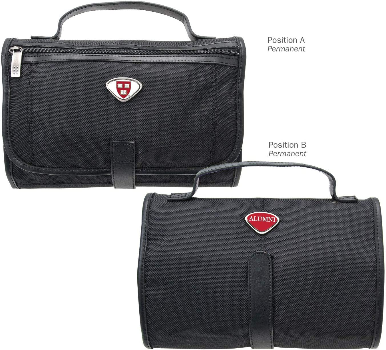 One Size Black AdSpec NCAA Harvard Crimson Collegiate Toiletry BagCollegiate Toiletry Bag