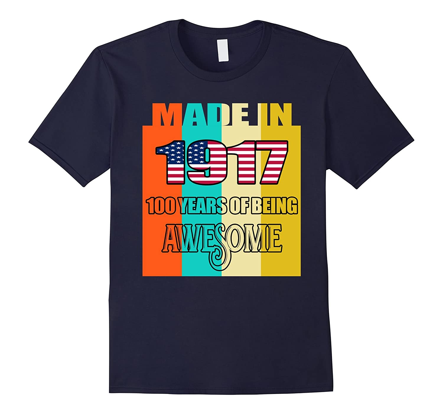 100th Birthday Gift For 100 Years Old 1917 Tee Shirt-Art