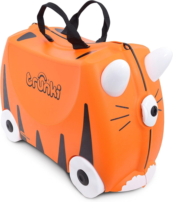 Trunki Maleta correpasillos y equipaje de mano infantil: Tigre Tipu (Naranja)