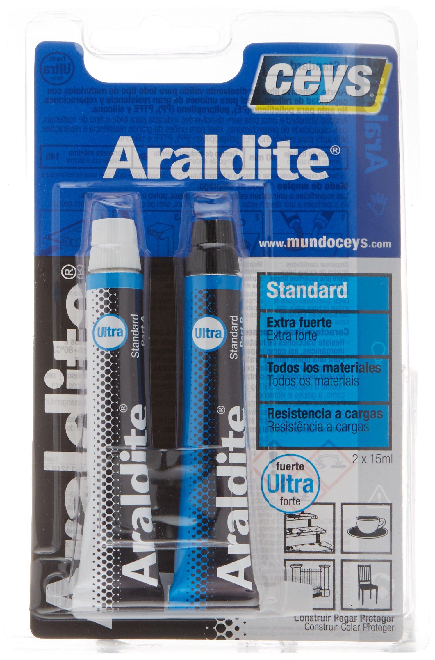 Ceys 510107 Adhesivo araldit Standard Blister Grande, Azul 0 product image