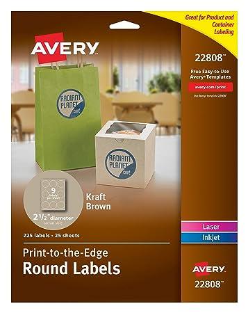 amazon co jp avery 22808 round easy peel labels 2 5 in dia