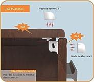 Kit 2 Travas Magnéticas para Armários e Gavetas, Kababy, Branco