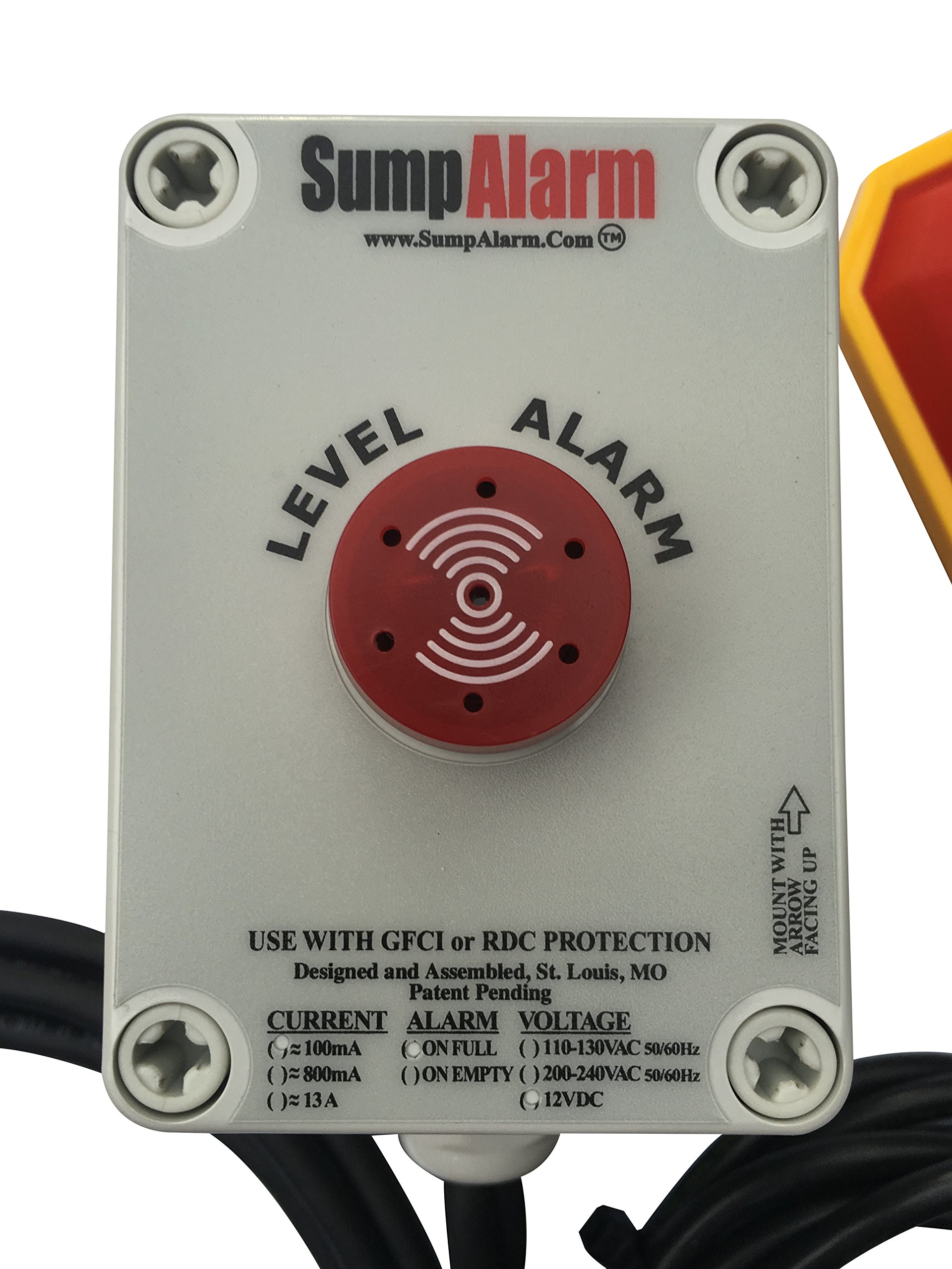 Back Up Battery 12V DC In/Outdoor High Water Alarm for DC / Battery Back-up Septic / Sump / Pond Pumps by Sump Alarm