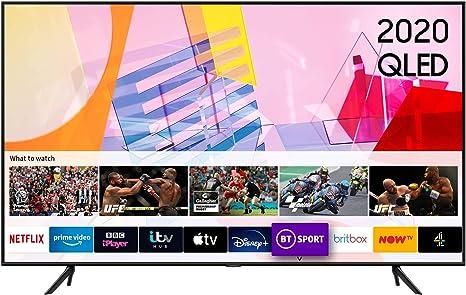 Samsung 2020 55 pulgadas Q60T QLED 4K Quantum HDR Smart TV con sistema operativo Tizen: Amazon.es: Electrónica