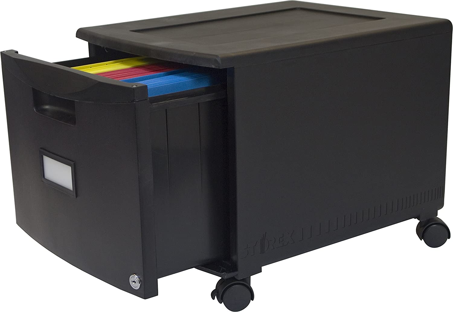 View mobile site about digitalbuyer com affiliate program site map - Amazon Com Storex Single Drawer Mini File Cabinet With Lock Casters 18 25 X 14 75 X 12 75 Inches Gray Black 61266b01c Office Products