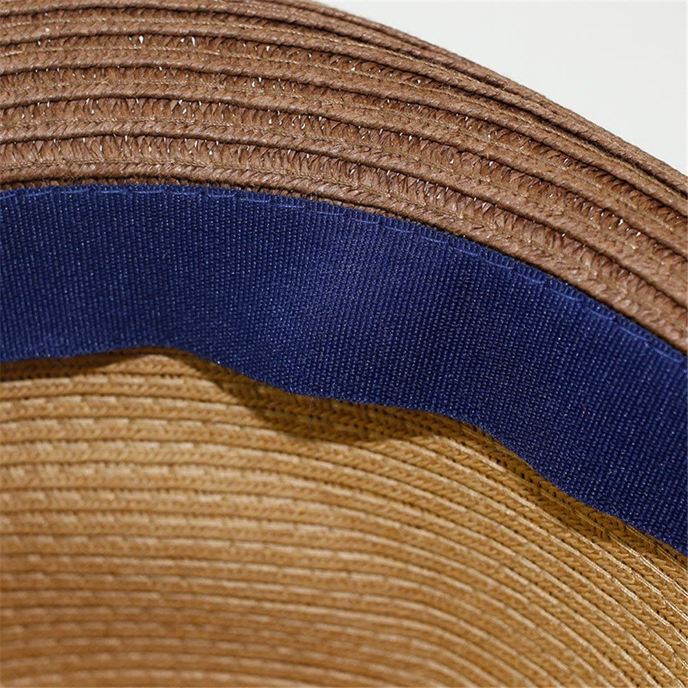 Verano protecci/ón Solar Gorros de beb/é Adanina Sombrero de Paja Estampado de Estrellas para beb/é Sombreros para ni/ños Primavera