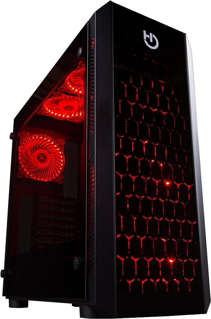 Hiditec NG-RX Torre Negro - Caja de Ordenador (Torre, PC, SECC ...