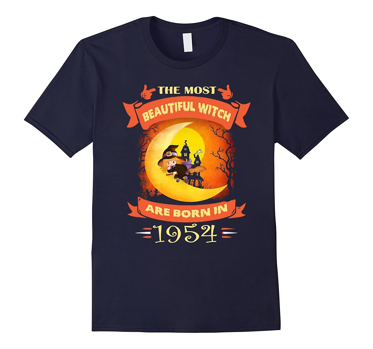 63th Birthday Women Beautiful Witch are born in 1954 Tee-4LVS