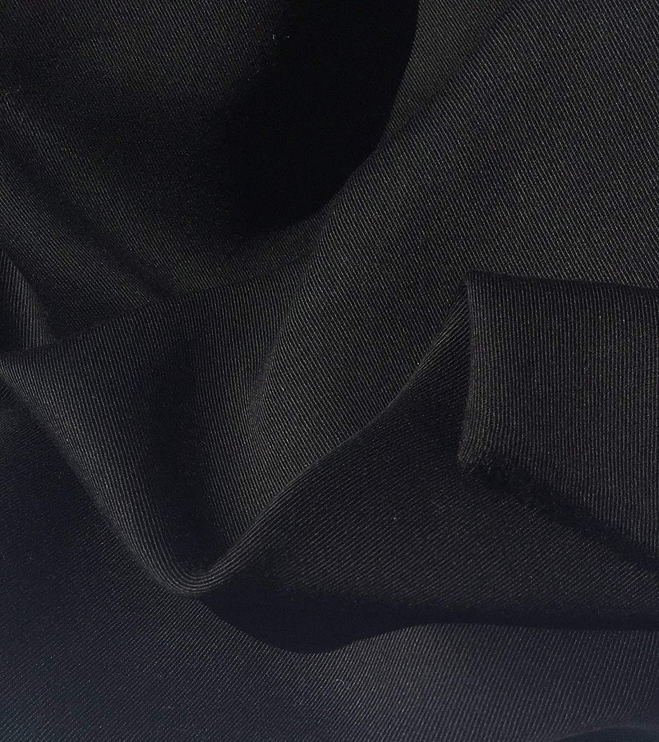 "60/"" Jet Black 100/% Lyocell Tencel Gabardine Twill Eco Friendly Medium Weight Wov"