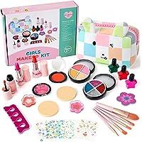 KODATEK 27 Pieces Kids Makeup Kit for Girl, Rabbit Bag Designed by Internationally Renowned Designers, Washable Cosmetic…