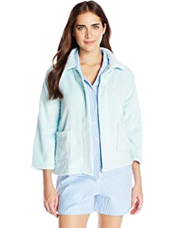 Casual Moments Women s Plus Size Bed Jacket-Peter Pan Collar Robe at ... 1fb76c2d8