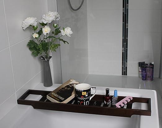 Ikea Bandeja para la bañera bañera Bandeja en 2 colores, madera, marrón oscuro, 70 cm: Amazon.es: Hogar