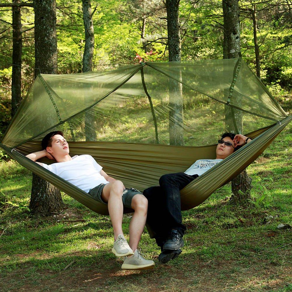 Alomejor H/ängematte f/ür Camping-H/ängematten aus Moskitonetzen f/ür Camping Wandern Backpacking