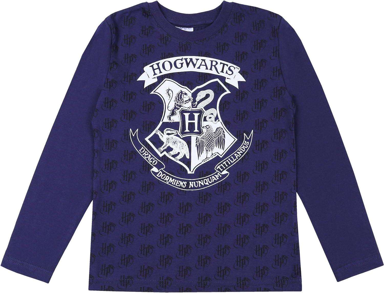 Camicetta da Ragazzo Blu Scuro Hogwarts di Harry Potter